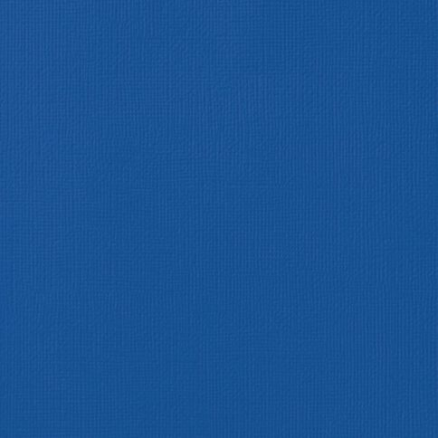 American Crafts Cardstock Textured 12 x 12 Marine Blue