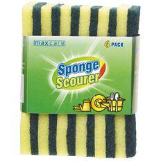 Maxcare Sponge Scourers 6 Pack