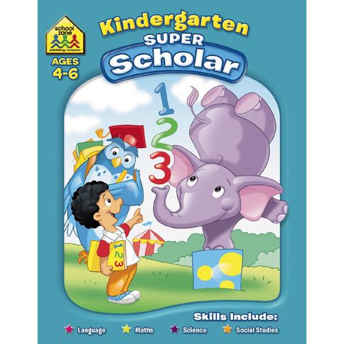 Super Scholar Workbook Kindergarden (4-6) by Schoolzone