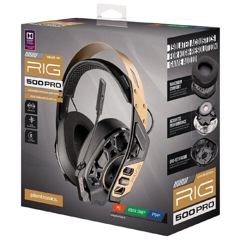Plantronics Headset RIG500 PRO Universal Gold Gold