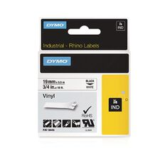 Dymo Industrial Vinyl Labels 19mm Black/White