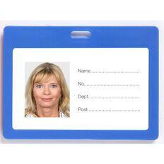 Rexel Plastic Card Holder Landscape 6 Pack Blue