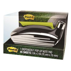 Post-It Pop-up Note Gof Dispenser GOLF-330 76mm x 76mm Black