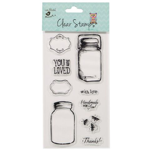 Little Birdie Clear Stamps Assorted