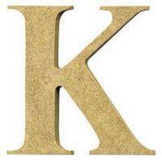 Sullivans Mdf Board Alphabet Letter 6cm K Brown