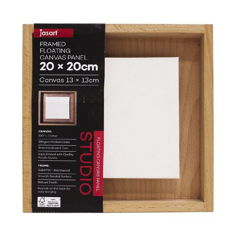 Jasart Framed Floating Canvas Panel 20x20cm