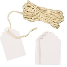 Uniti Tags And Twine Kit White