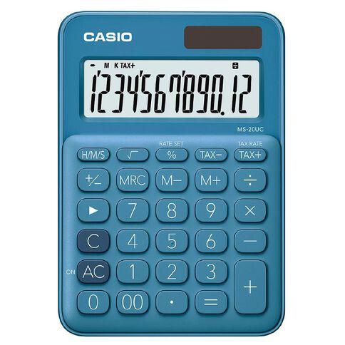 Casio MS20UCBU Desktop 12 Digit Calculator Blue