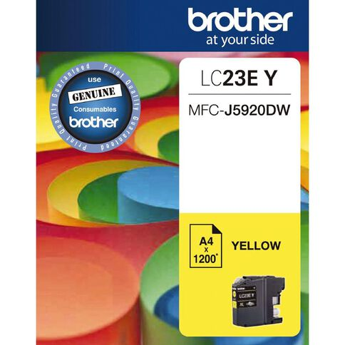 Brother Ink LC23E Yellow (1200 Pages)