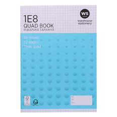 WS Exercise Book 1E8 7mm Quad 36 Leaf Blue