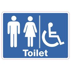 WS Toilet Sign Small 240mm x 340mm