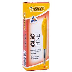 Bic Pen Clic Fine 10 Pack Red