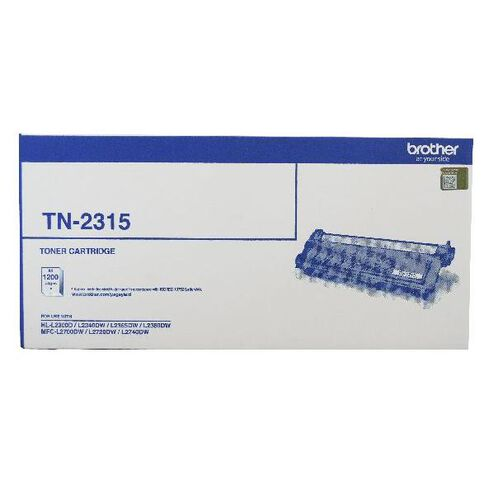 Brother Toner TN2315 Black (1200 Pages)
