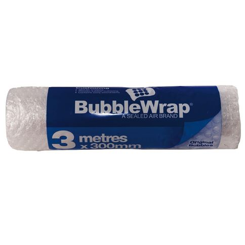 Bubble Wrap Roll 300mm x 3m Clear