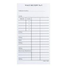 Brenex Wage Receipt #5 White