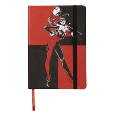 DC Harley Quinn PU Notebook Black & Red A5