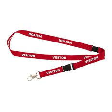 Rexel Lanyard Visitor 5 Pack Red