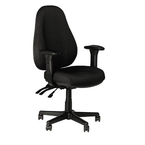 Buro Seating Persona Chair With Arms Black Black