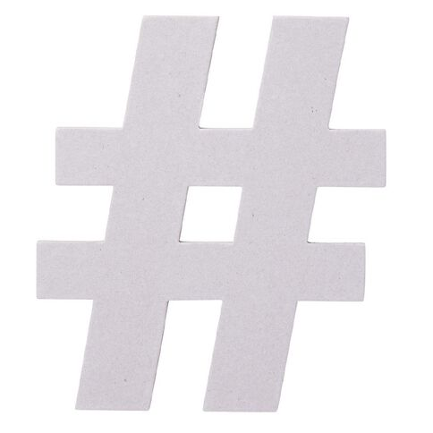 Rosie's Studio Chipboard Shape Hashtag 20cm