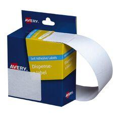Avery White Rectangle Dispenser Stickers 63x44mm 150 Labels Handwritable