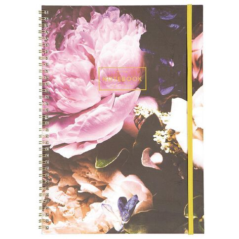 Uniti Dark Glam Spiral Notebook A4