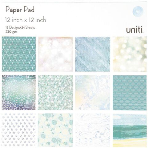Uniti Paper Pad 24 Sheets 12 Designs Oceania 12in x 12in