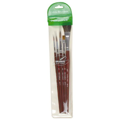 DAS Brush Set Das Red Sable & Camel 5 Pack