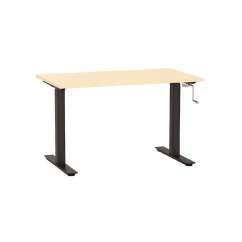 Agile Height Adjustable Desk 1200 Nordic Maple/Black