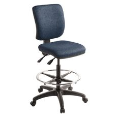 Eden Swatch 2 Lever Midback Tech Chair with Footring Navy