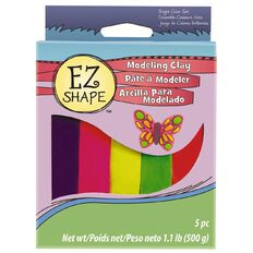 Sculpey EZ Shape Modeling Clay Set 5 Bright Colour