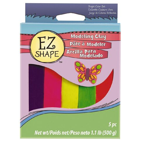 Sculpey EZ Shape Modeling Clay Set 5 Bright Colour