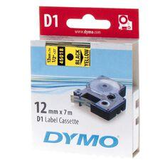 Dymo Label Tape D1 Black/Yellow 12Mm X 7M