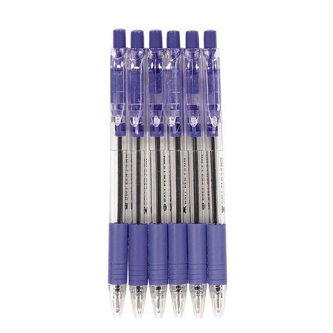 WS Ball Pens Sprint Grip 6 Pack Blue