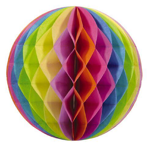 Party Inc Honeycomb Lantern Rainbow 30cm