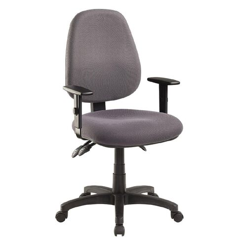 Jasper J Advance Chair with Adjustable Arms Charcoal