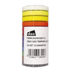 DAS Tempera Paint Block 12 Pack