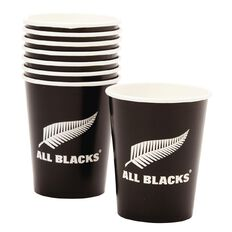 All Blacks Paper Cups 250ml 8 Pack