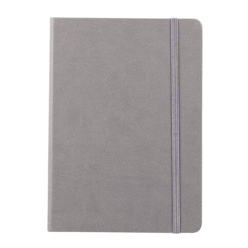 Impact Hardcover PU Notebook with Elastic Grey A5