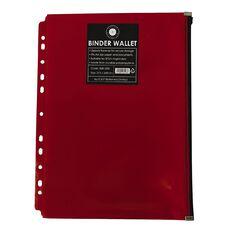 Office Supply Co Binder Zip Lock Wallets Multi Hole Spine Red A4