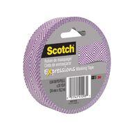 Scotch Masking Craft Tape 25mm x 18m Mosaic Purple