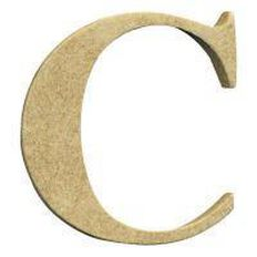 Sullivans Mdf Board Alphabet Letter 6cm C Brown