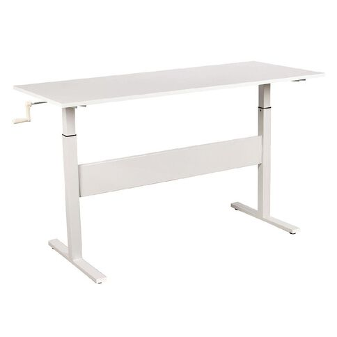 Workspace 1400 Sit 2 Stand Desk White