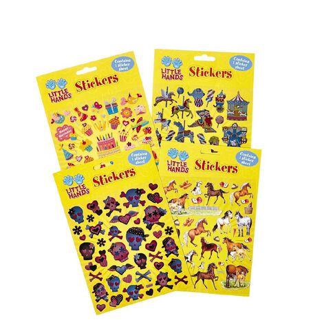 Little Hands Stickers 15cm x 17cm Assorted