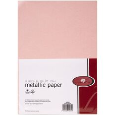 Direct Paper Metallic Paper 120gsm 10 Pack Rose Quartz A4