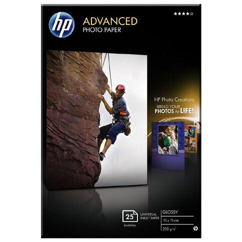 HP Photo Paper Q8691A Glossy 250gsm 6 x 4 25 Pack