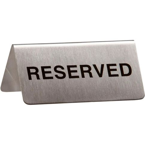 Esselte Sign Reserved Metal 10 Pack