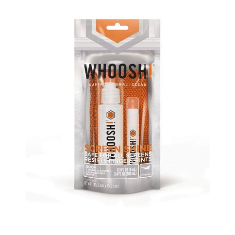 Whoosh! Screen Shine Duo 100Ml & 8Ml Screen Cleaner Orange