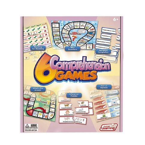 Junior Learning 6 Comprehension Games