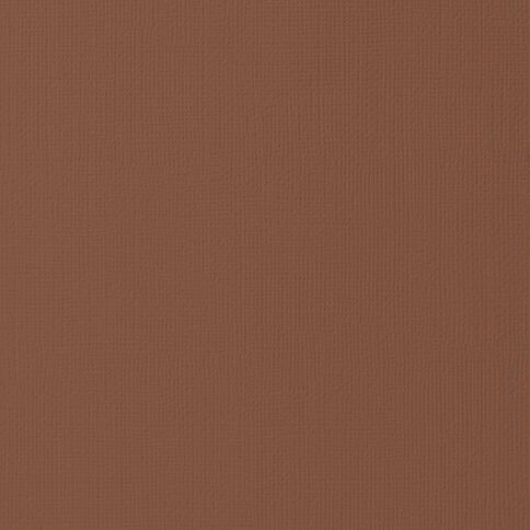 American Crafts Cardstock Textured Chocolate 12in x 12in