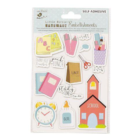 Little Birdie Thank You Teacher Sticker Embellishment 16 piece